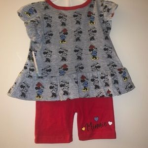 Disney Minnie Mouse outfit 12 months NWT